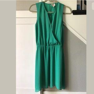 Parker Teal XS 100% Silk Dress